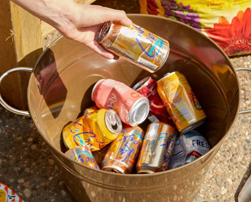 Plant Soda Cans